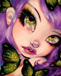 Art: Green Eyed Violet by Artist Natasha Wescoat