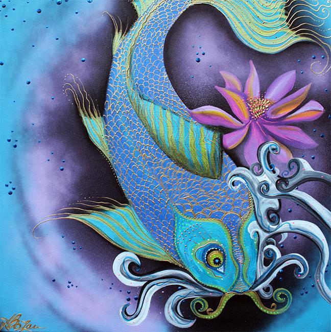 Art: Dragon Fish by Artist Laura Barbosa