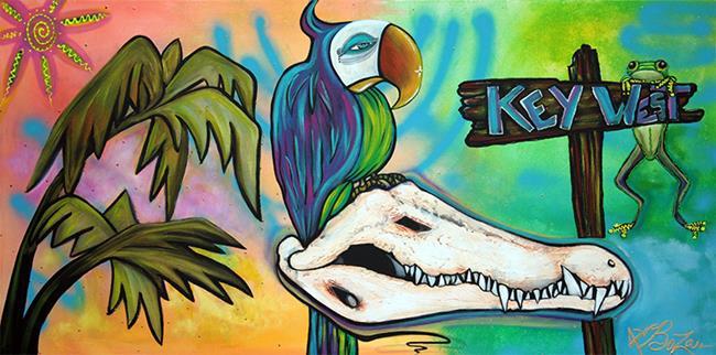 Art: Key West by Artist Laura Barbosa