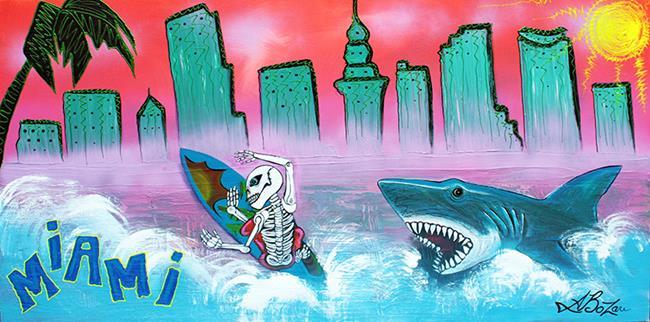 Art: Miami by Artist Laura Barbosa