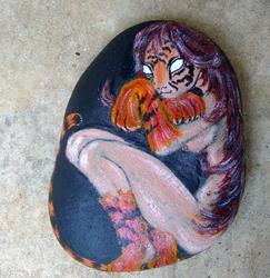 Art: Tiger Woman by Artist Tracey Allyn Greene