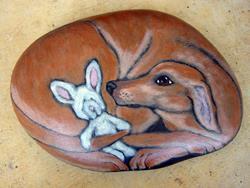 Art: Sasha Doss - rabbit hound by Artist Tracey Allyn Greene