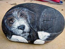 Art: Fred, town dog of Rockford Alabama by Artist Tracey Allyn Greene