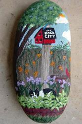 Art: I saw Rock City, and all I got was this birdhouse by Artist Tracey Allyn Greene