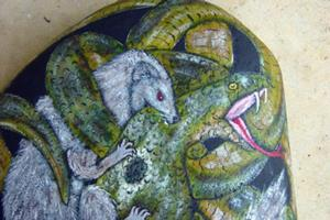 Detail Image for art Rikki and Nagaina in the Cobra Burrow