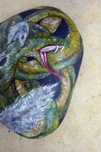 Detail Image for art Rikki and Nagaina in the Cobra Burrow