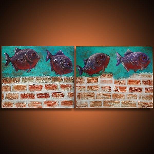 Art: Piranha by Artist Laura Barbosa