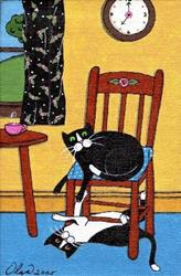Art: chair play by Artist S. Olga Linville