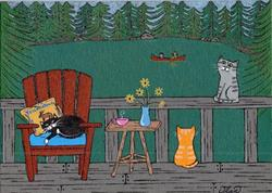 Art: ~lake cats~ by Artist S. Olga Linville