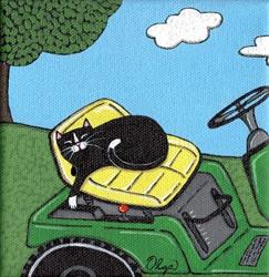 Art: tractor cat by Artist S. Olga Linville