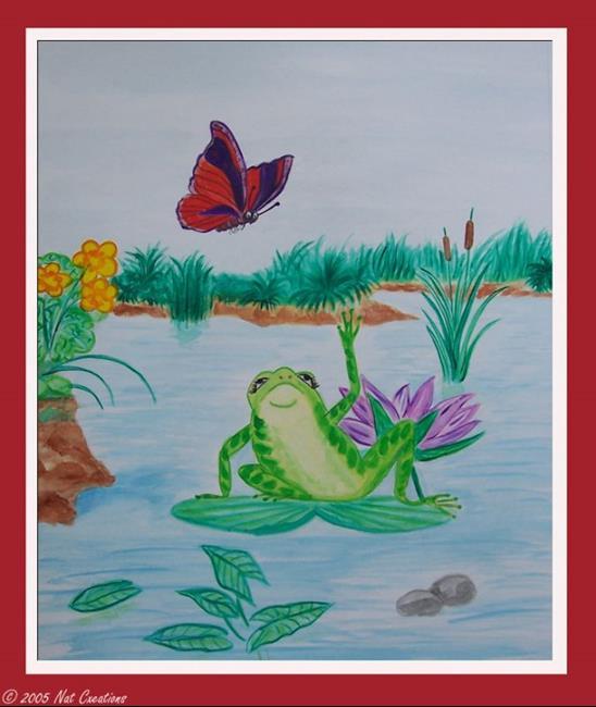 Art: Frog Fairy Tale by Artist Nathalie Sorensson