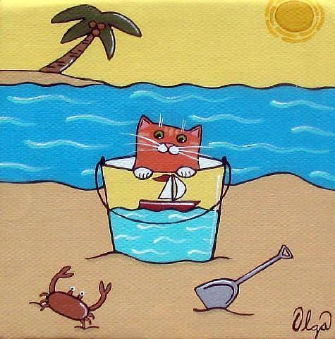 Art: ~crabby cat~ by Artist S. Olga Linville