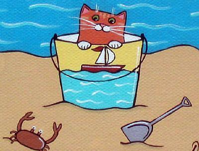 Crabby Cat Clip Art