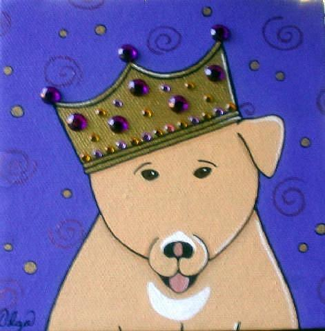 Art: ~charger~king of dogs~ by Artist S. Olga Linville