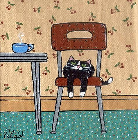 retro kitchen cat by s olga linville from cartoon art. Black Bedroom Furniture Sets. Home Design Ideas