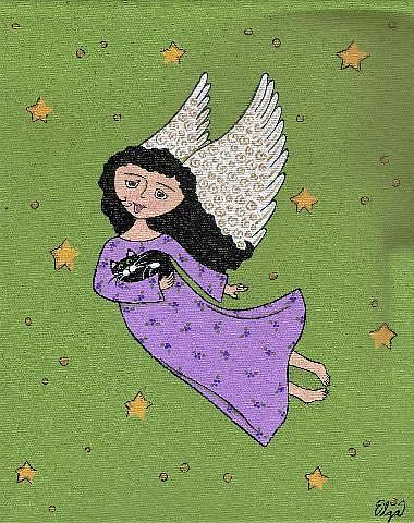 Art: ~in the arms of an angel~ by Artist S. Olga Linville