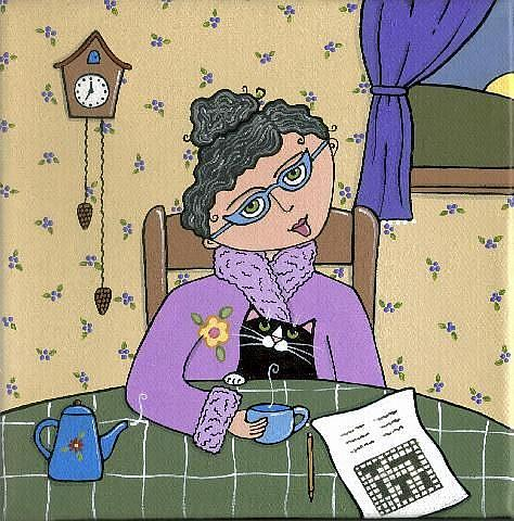 Art: ~morning crossword~ by Artist S. Olga Linville