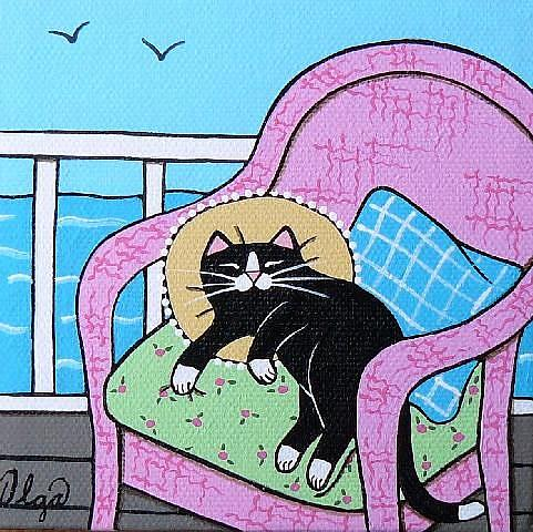 Art: ~old pink chair~ by Artist S. Olga Linville