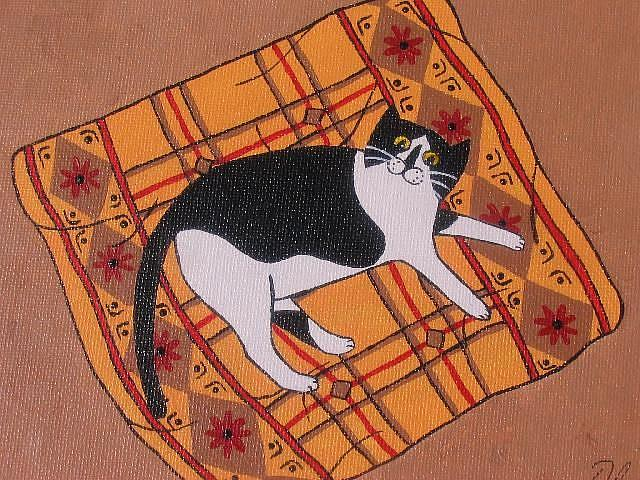 Art: Lucy on blanket by Artist S. Olga Linville