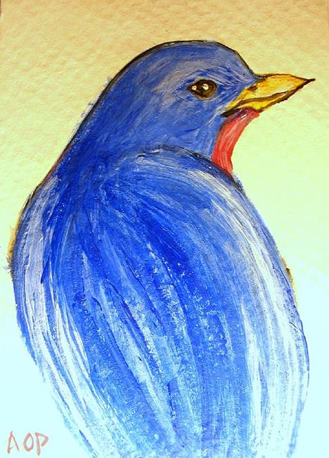 Art: ACEO:  Blue Blaze by Artist Patience