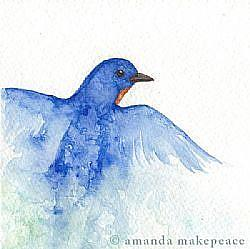 Detail Image for art ACEO:  Blue Blaze