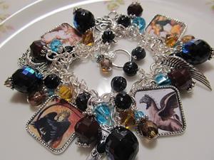 Detail Image for art Strange Creatures Altered Art Charm Bracelet