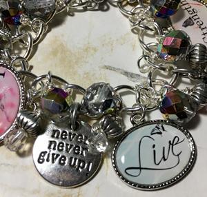 Detail Image for art Graduation Charm Bracelet, Medical, OOAK, handmade