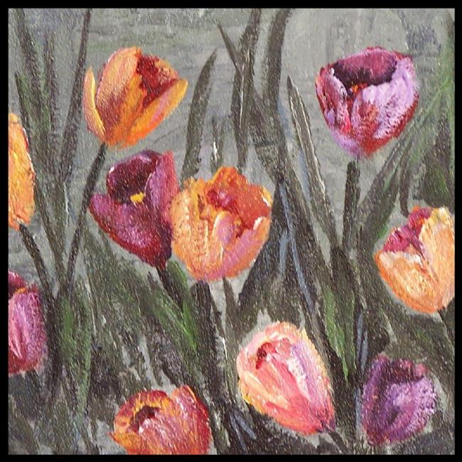 Art: Crocus Garden ~ SOLD by Artist Dana Marie
