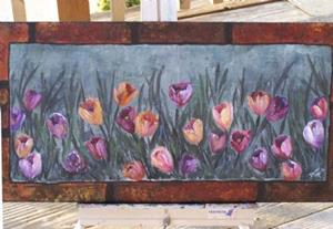 Detail Image for art <b>Crocus Garden ~ SOLD