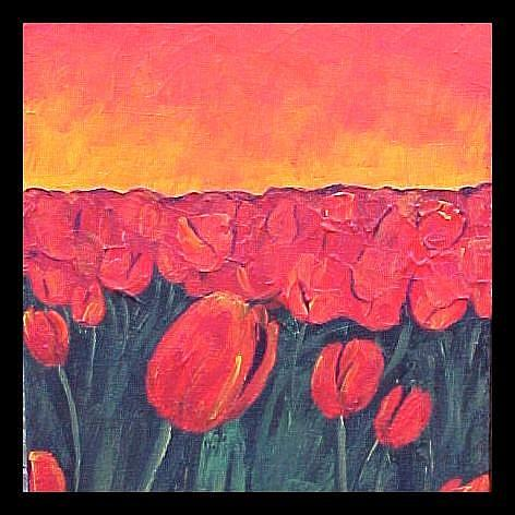 Art: Tulips Sunset by Artist Dana Marie