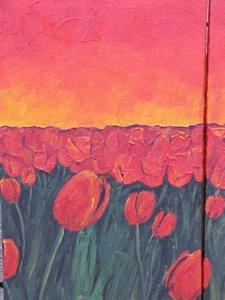 Detail Image for art <b>Tulips Sunset