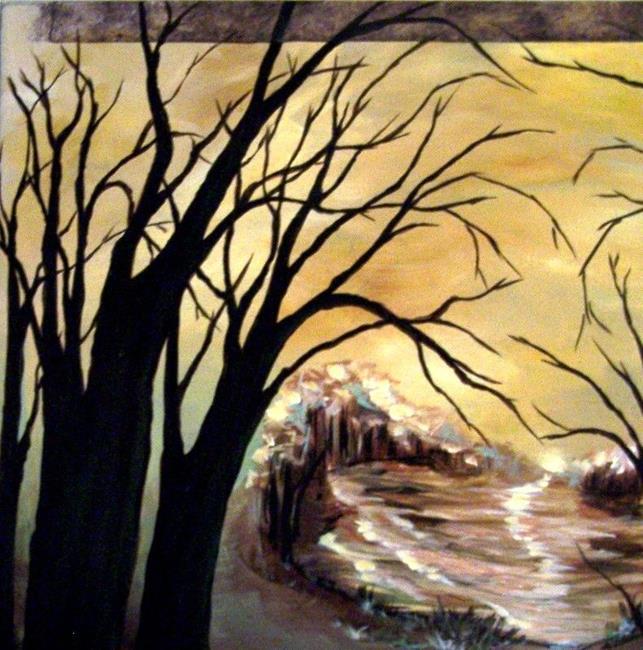 Art: Untitled - Hidden Bay Painting by Artist Dana Marie