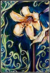 Art: Amaryllis at Twilight ~ ACEO ~ SOLD by Artist Dana Marie