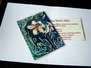 Detail Image for art <b>Amaryllis at Twilight ~ ACEO ~ SOLD