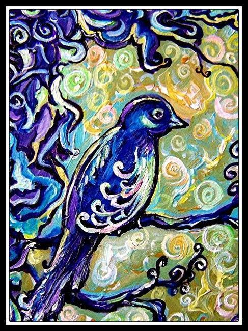 Art: Birds Suddenly Appear ~ SOLD by Artist Dana Marie