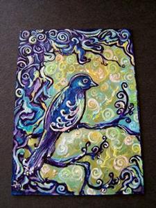 Detail Image for art <b>Birds Suddenly Appear ~ SOLD