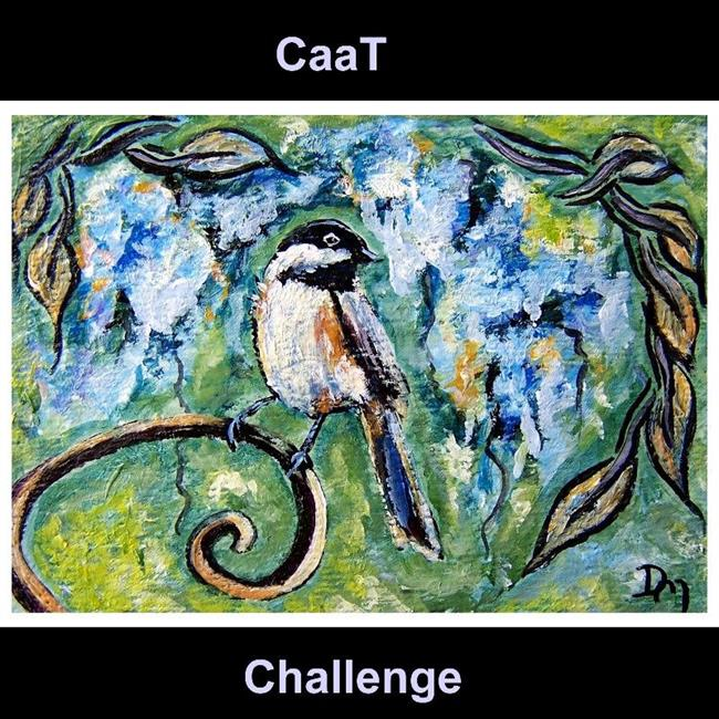 Art: Spring Chickadee ~ SOLD by Artist Dana Marie