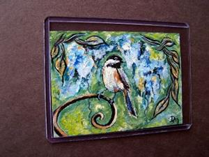 Detail Image for art <b>Spring Chickadee ~ SOLD