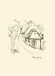 Art: Medieval Street by Artist Milena Gawlik