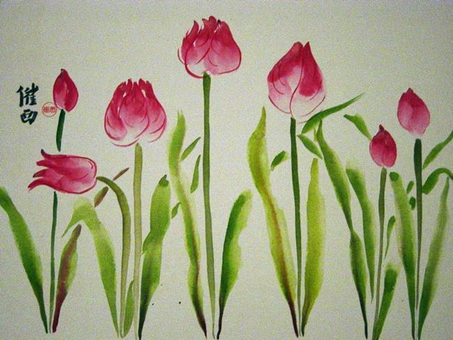 Art: Tulips by Artist Tracey Allyn Greene