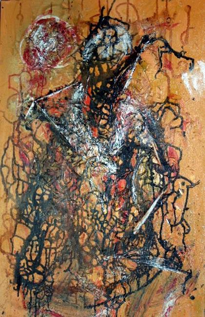 Art: THE TRAVELLER-sold by Artist LUIZA VIZOLI