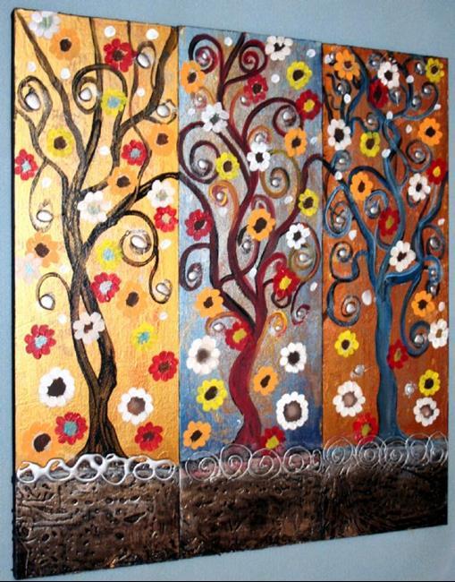 Art: FLOWERS TREES-SOLD by Artist LUIZA VIZOLI