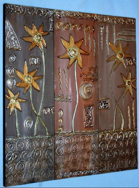 Art: THE GOLD FLOWERS-sold by Artist LUIZA VIZOLI
