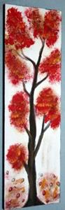 Detail Image for art RED AUTUMN TREES-sold