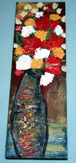 Art: AUTUMN FLOWERS IN A VASE-sold by Artist LUIZA VIZOLI