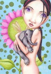 Art: Lavender's Favorite Pet by Artist Jen Thoman Thurston