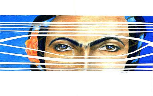 Art: Frida Beyond What Blinds by Artist Alma Lee
