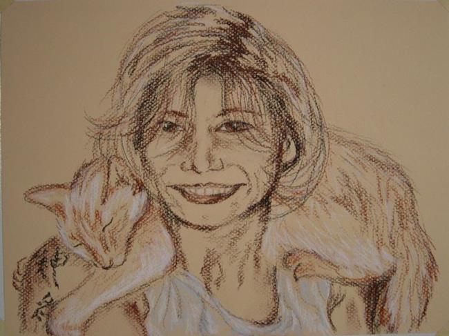 Art: Self Portrait - Me and Ezra by Artist Tracey Allyn Greene