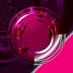 Art: Pink Lifesaver by Artist Laura Barbosa