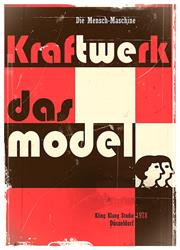 Art: Kraftwerk - Das Model - Poster - Contemporary project in vintage style by Artist Milena Gawlik